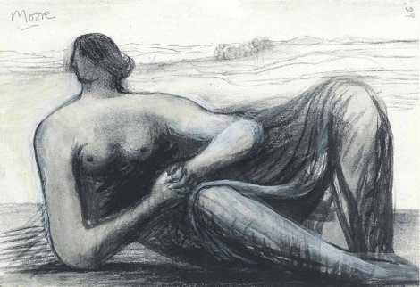 <span class=&#34;artist&#34;><strong>Henry Moore</strong></span>, <span class=&#34;title&#34;><em>Draped Reclining Figure in a Landscape</em>, c. 1973/77</span>
