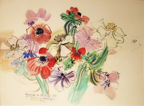 "<span class=""artist""><strong>Raoul Dufy</strong></span>, <span class=""title""><em>Anémones</em>, 29th April 1950</span>"