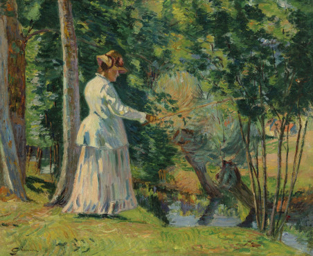 "<span class=""artist""><strong>Jean Baptiste Armand Guillaumin</strong></span>, <span class=""title""><em>Madame Guillaumin pêchant</em>, c.1894</span>"
