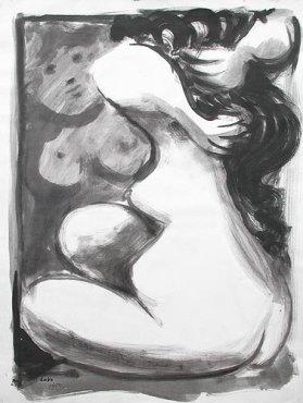 """<span class=""""artist""""><strong>Baltasar Lobo</strong></span>, <span class=""""title""""><em>Nu devant un miroir</em>, 1950</span>"""