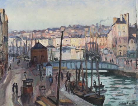 """<span class=""""artist""""><strong>Emile-Othon Friesz</strong></span>, <span class=""""title""""><em>Le Havre soleil</em>, 1906</span>"""