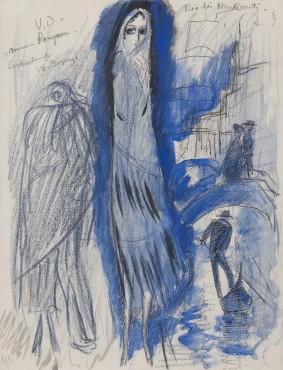 """<span class=""""artist""""><strong>Kees van Dongen</strong></span>, <span class=""""title""""><em>Etude pour 'Rio des Mendiant'</em>, 1921</span>"""