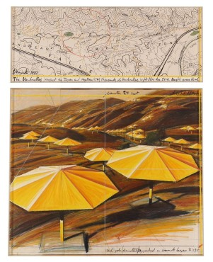 <span class=&#34;artist&#34;><strong>Christo</strong></span>, <span class=&#34;title&#34;><em>The Umbrellas</em>, 1987</span>