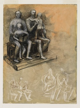 <span class=&#34;artist&#34;><strong>Henry Moore</strong></span>, <span class=&#34;title&#34;><em>Family Groups</em>, c.1943-44</span>