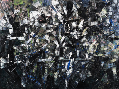 <span class=&#34;artist&#34;><strong>Jean-Paul Riopelle</strong></span>, <span class=&#34;title&#34;><em>Sans titre</em>, 1955</span>