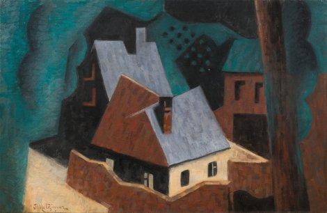 <span class=&#34;artist&#34;><strong>Jean Metzinger</strong></span>, <span class=&#34;title&#34;><em>Arbres et Maisons</em>, 1920</span>