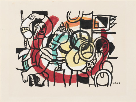 <span class=&#34;artist&#34;><strong>Fernand Leger</strong></span>, <span class=&#34;title&#34;><em>Le Jongleur et L'Acrobate</em>, 1953</span>