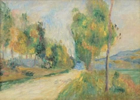 <span class=&#34;artist&#34;><strong>Pierre-Auguste Renoir</strong></span>, <span class=&#34;title&#34;><em>La route de campagne</em></span>