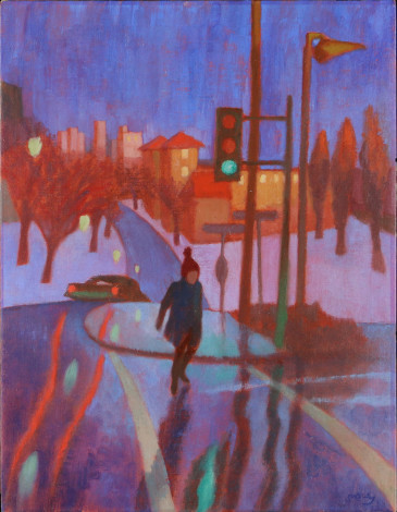 Philip Surrey, C.M., LL.D., R.C.A., The Red Tuque (Looking Towards the POM Bakery), 1968