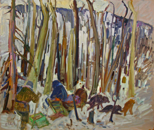 <span class=%22title%22>Trappers and Dogs at Rest in the Forest - Trappeurs et chiens, arrêt en forêt<span class=%22title_comma%22>, </span></span><span class=%22year%22>1955 (circa)</span>