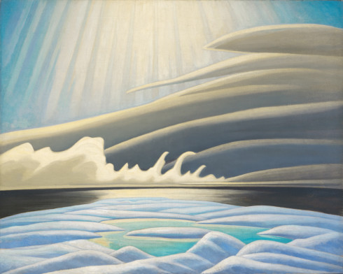Lawren S. Harris, C.C., LL.D., Sun, Fog and Ice, Smith Sound (Arctic Painting IV), 1931 Oil on canvas - Huile sur toile  40 x 50 in 101.6 x 127 cm