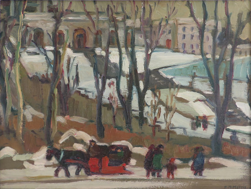 <span class=%22title%22>Street Scene, Montreal (Horse and Sleigh In front of St. Joseph's Oratory)<span class=%22title_comma%22>, </span></span><span class=%22year%22>1929 (circa)</span>