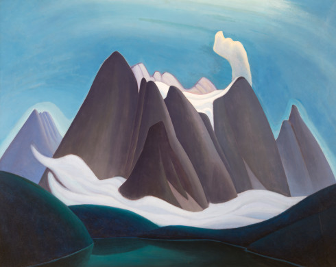 Lawren S. Harris, C.C., LL.D., Mountain Form IV (Rocky Mountain Painting XIV), 1927 Oil on canvas 48 x 60 in 121.9 x 152.4 cm