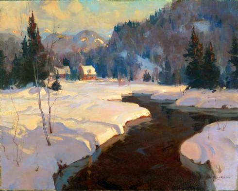 Eric Riordon, A.R.C.A., Evening, Simon River