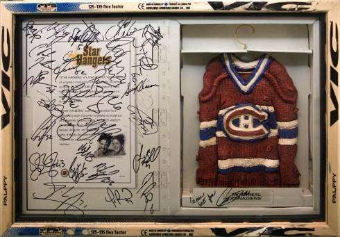Patrick Amiot, Locker Room (signed by players) - Vestiaire (signé par joueurs