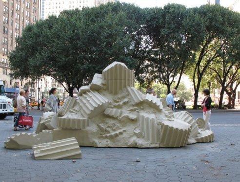On view at Doris C. Freedman Plaza, Central Park, New York, September 15, 2010 – February 13, 2011 Photo: Jason Wyche