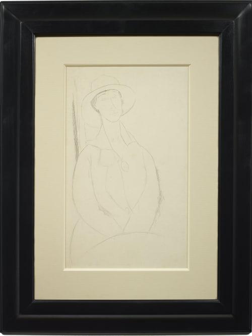 Amedeo Modigliani, La Zborowska (Hanka Zborowska), Jeune femme au chapeau et au médaillon, c. 1918