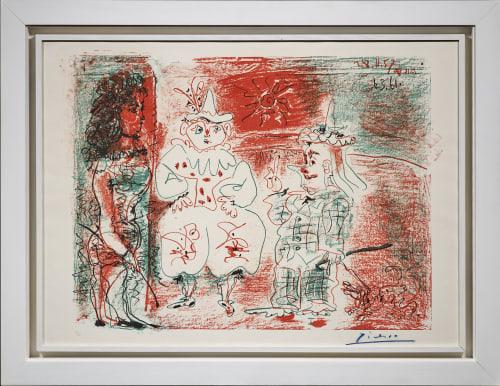 Pablo Picasso, L'Ecuyère et les Clowns, 1961