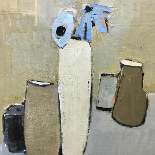 Bridget Lansley - Stone Vases (Hungerford Gallery)