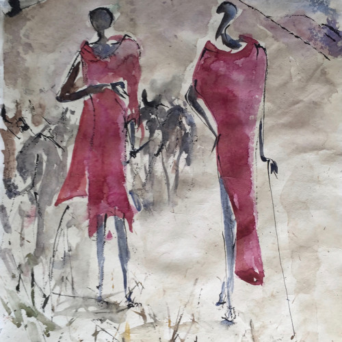 Christine Seifert - Two Maasai (Hungerford Gallery)