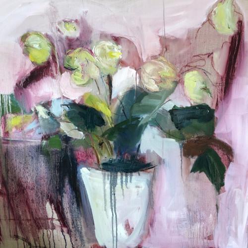 Jo Vollers - Hellebores (Hungerford Gallery)