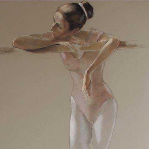 Katya Gridneva - Dancer in Pink Leotard (Hungerford Gallery)