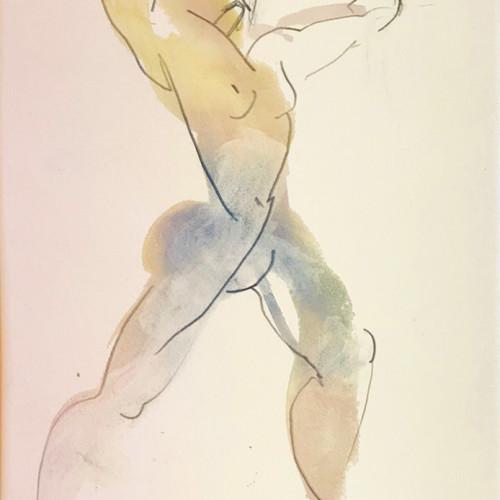 Bella Pieroni - Acrobat (Mounted) (Hungerford Gallery)