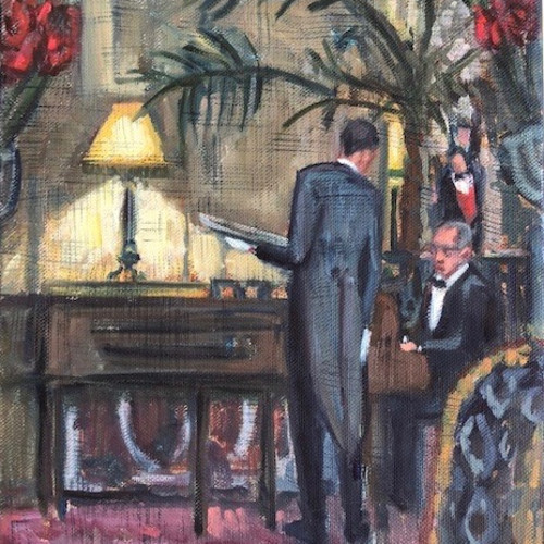 Lucy Dickens - Piano Player at The Ritz (Unframed) (London Gallery)