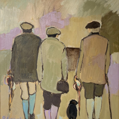 Bridget Lansley - Friends (Hungerford Gallery)