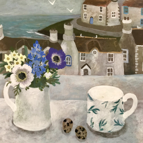Sarah Bowman - Spring Flowers and Quails Eggs (London Gallery)