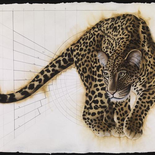 Nikki Stevens - Golden Section Leopard III (Hungerford Gallery)