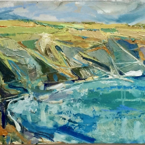 Emma Haggas - Cornish Coastline (Hungerford Gallery)