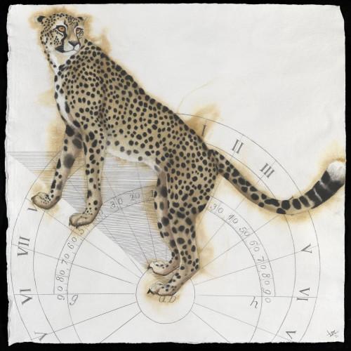 Nikki Stevens - Sundial Cheetah (Hungerford Gallery)