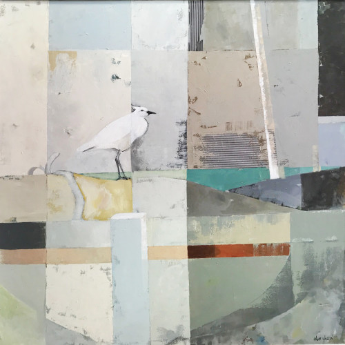 Angela Wilson - Egret on Guard (Hungerford Gallery)