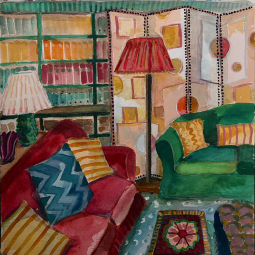 Lottie Cole - Interior with Screen (Hungerford Gallery)