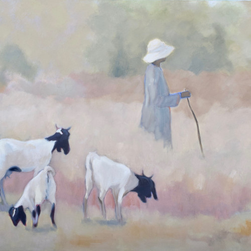 Clare Granger - Early Morning Goats (Hungerford Gallery)