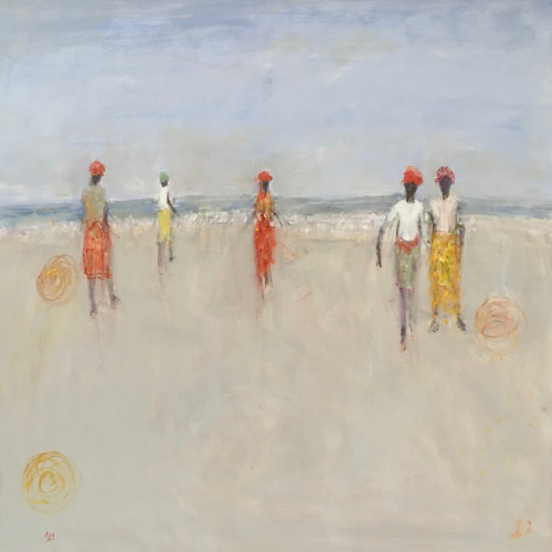 Ann Shrager - Fishermen with Nets (Hungerford Gallery)