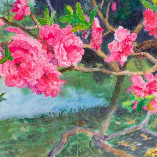 "<span class=""artist""><strong>Zhou Chunya</strong></span>, <span class=""title""><em>《十八學士》</em>, 2018</span>"