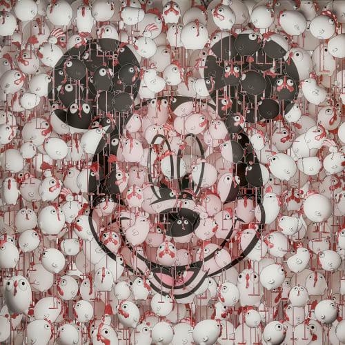 Ceet Fouad 習福德, Mickey Chicanos Blurry NO.3, 2016