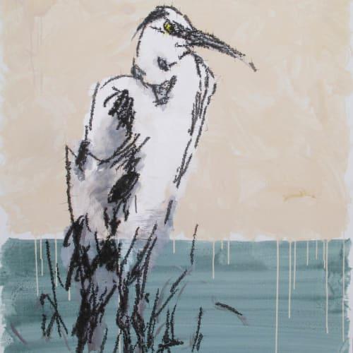 Ye Yongqing 葉永青, 草鹭 Grass Heron, 2018