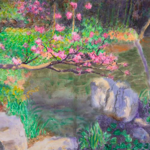 "<span class=""artist""><strong>Zhou Chunya</strong></span>, <span class=""title""><em>《瘦西湖紅橋》</em>, 2018</span>"