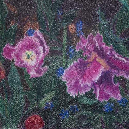 "<span class=""artist""><strong>Zhou Chunya</strong></span>, <span class=""title""><em>Purple Tulip 紫鬱金香</em>, 2015</span>"