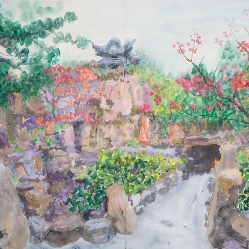 "<span class=""artist""><strong>Zhou Chunya</strong></span>, <span class=""title""><em>《个園秋山》</em>, 2018</span>"