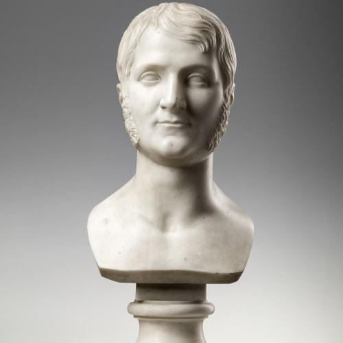 Raimondo Trentanove, MALE BUST, Rome, 1818
