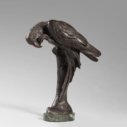 Sirio Tofanari, Bronze sculpture of a Parrot