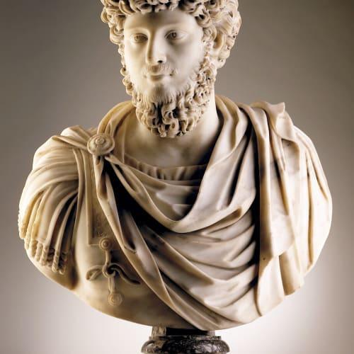 Bust of Emperor Marco Aurelio, Rome, 17th Century