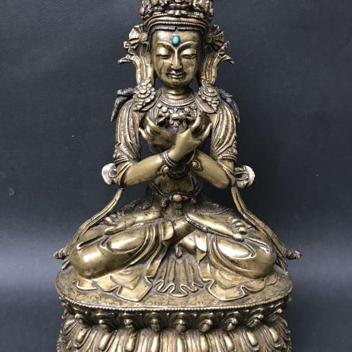Figure of Vajradhara sitting crossed legs in the lotus position, 15th Century