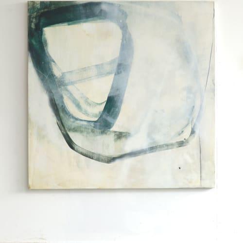"Endgame I  Sam Lock  mixed media on canvas  150cm x 150cm (59.1"" x 59.1"")"