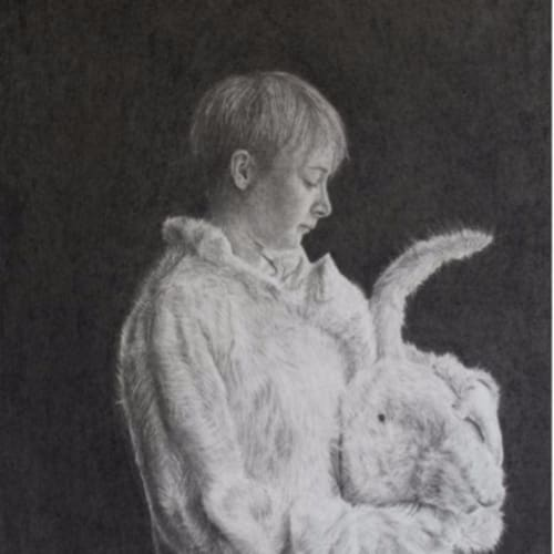Charles Moxon  Girl In Rabbit Costume (study), 2013  Pencil on Paper  30 x 25 cm 11 3/4 x 9 7/8 in.