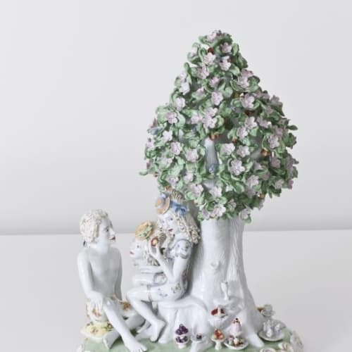 Chris Antemann  Taste of Paradise, 2013  Meissen Porcelain  40 x 30 cm 15 3/4 x 11 3/4 in.  edition of 8 plus 2 artist's proofs